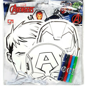 Marvel Avengers Colour Your Own Mask - 3 Pack