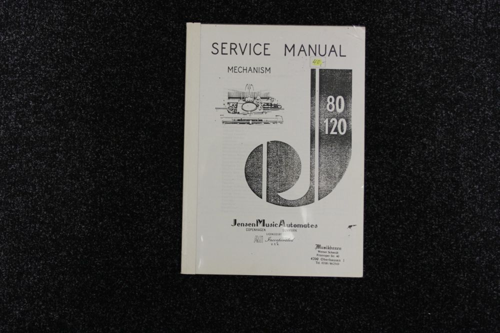 Jensen Music Automates - Service Manual Model 80 120