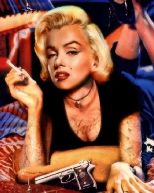 JJ Adams Marilyn Monroe Pulp Fiction