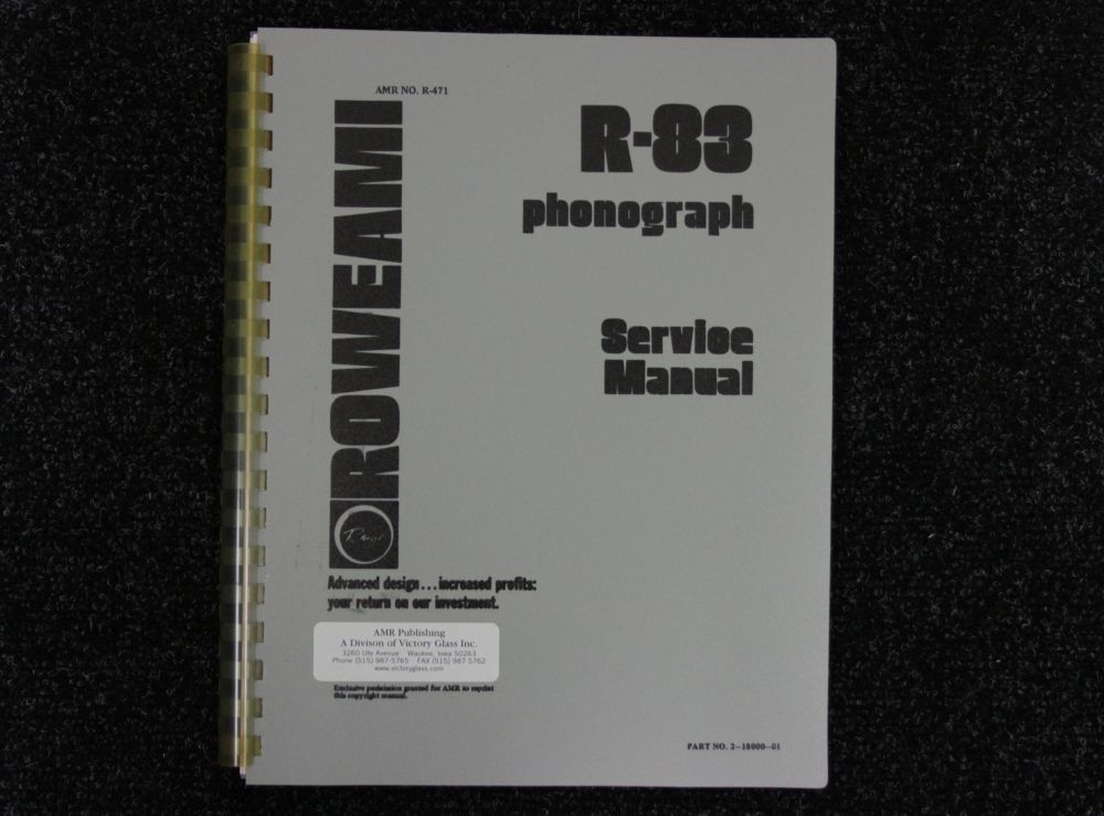 Rowe AMI - Service Manual - Model R-83