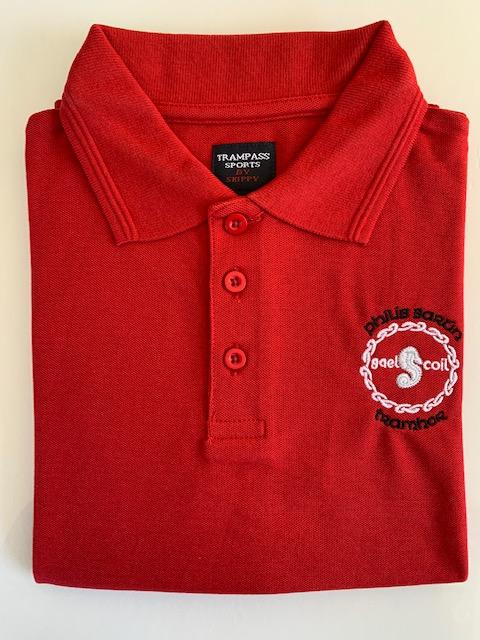 GSPB Red Crested Polo Shirt