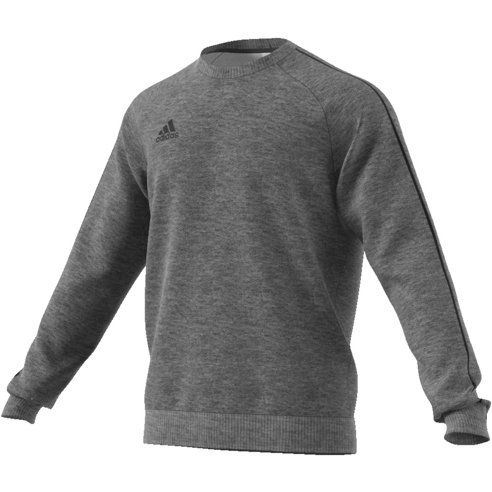 Adidas Core 18 Crew Top Charcoal Grey-White