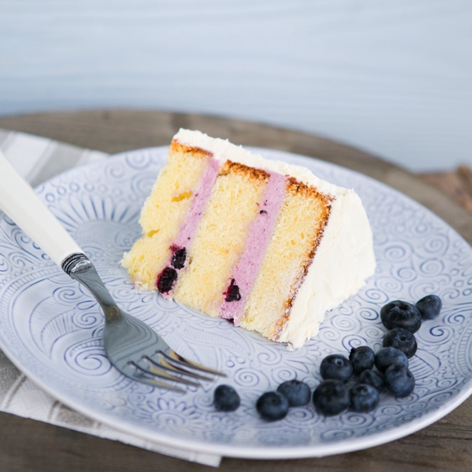Blueberry & Vanilla - Boutique Buttercream Cake