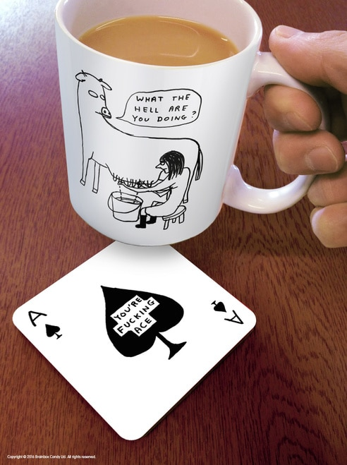 You're f***ing Ace Coaster from Brain Box Candy