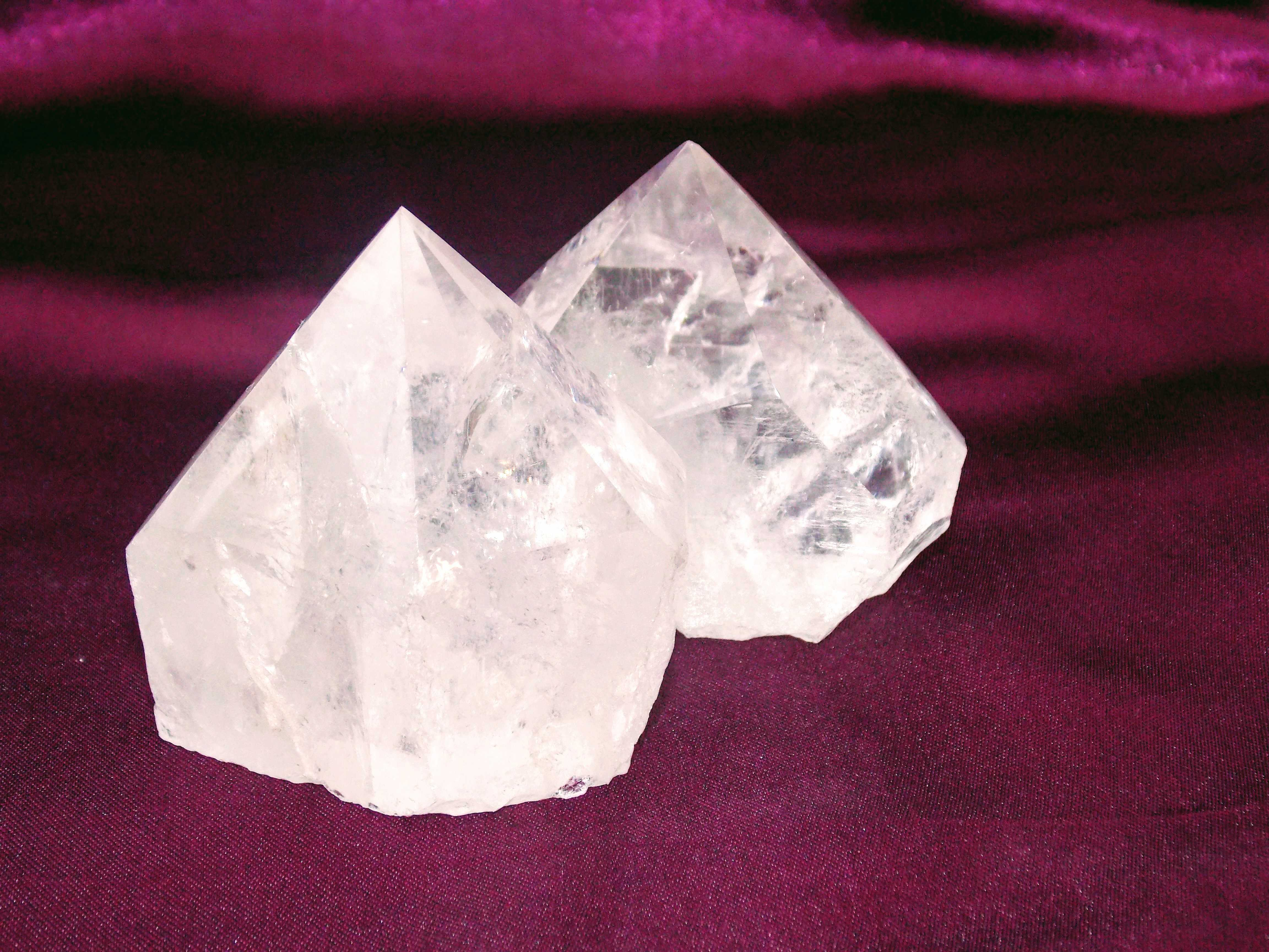 Quartz Rough and Polished Point