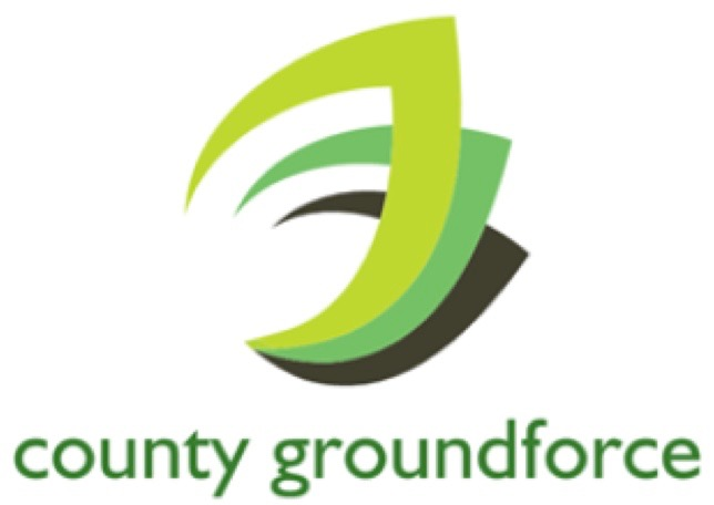 The tricolour logo of County Groundforce Ltd of Bilston, Wolverhampton