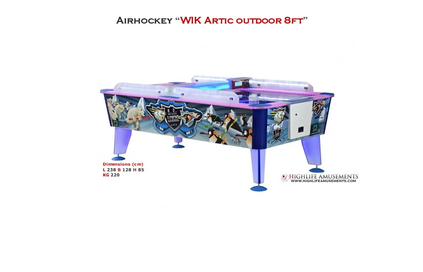 "Rental Airhockey Wik ""Artic 8ft"""