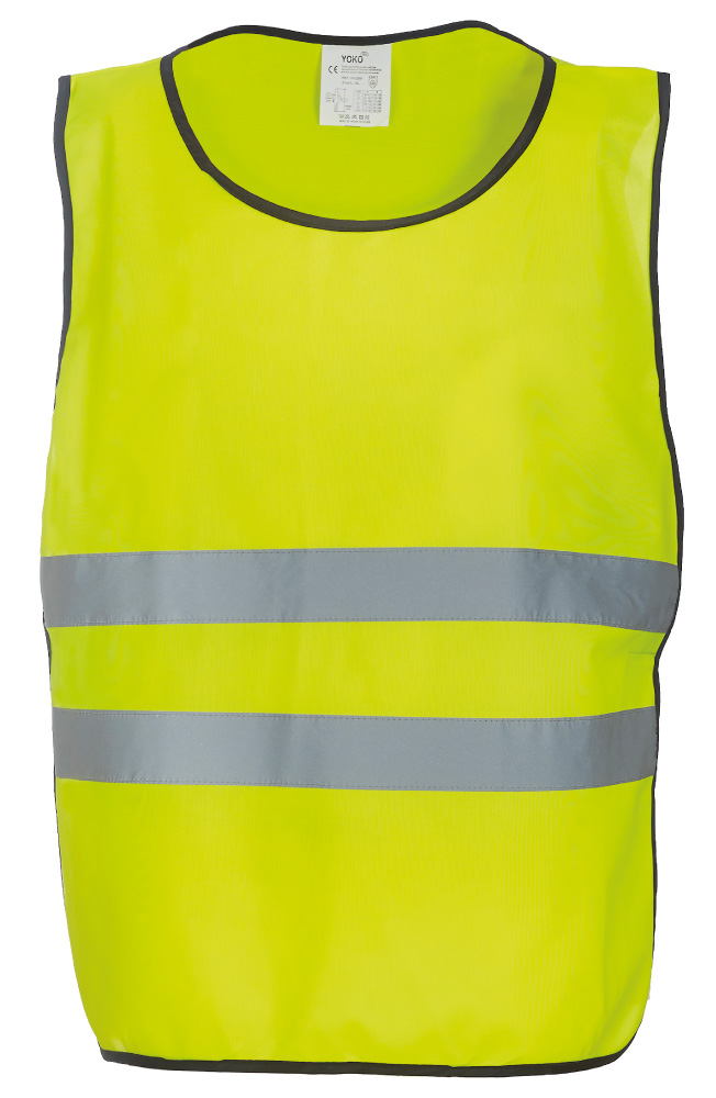 KO-HVJ269 Adult's Polyester Hi Vis Tabard  With Reflective Tapes, Yellow.