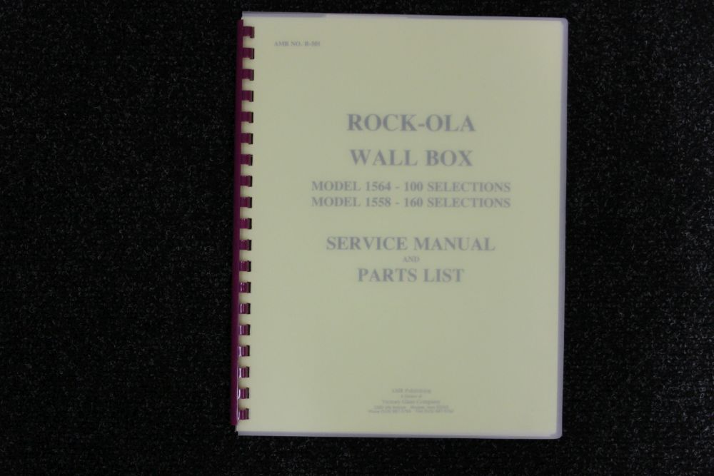 Rock-ola - Service Manual and Parts List - Model 1564 en 1558