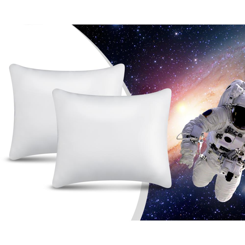 2PACK NASA MEMORY FOAM PILLOW WHITE - 50 X 60 CM