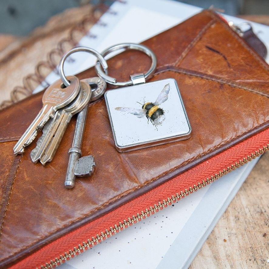 'Flight Of The Bumblebee' Keyring by Wrendale Designs