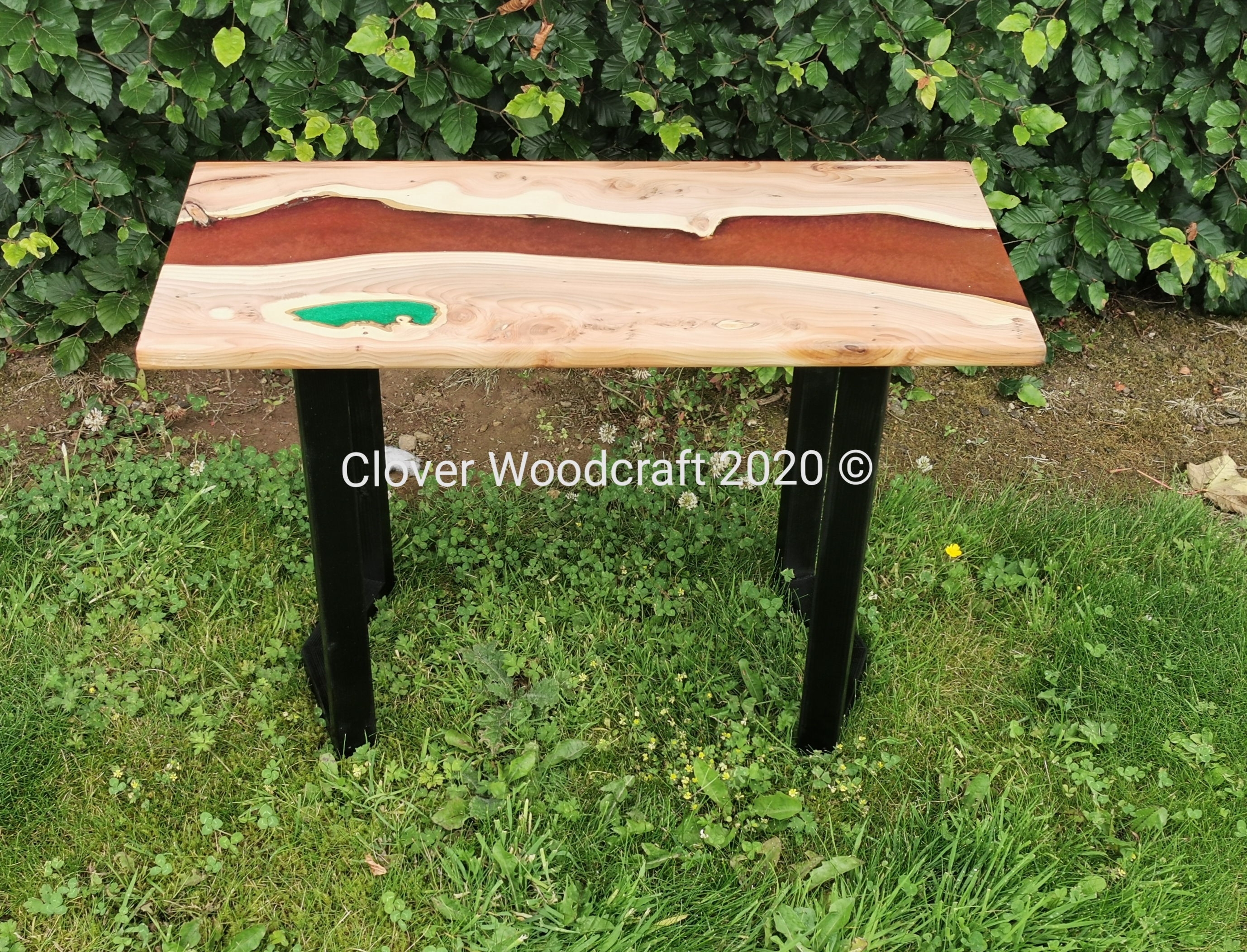 Live Edge Irish Designer Yew River Coffee Table
