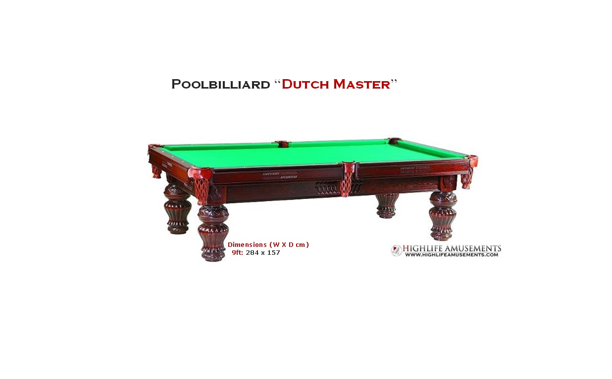 "Poolbilliard ""Dutch Master"""