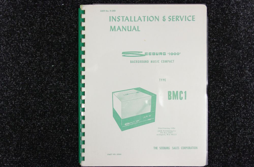 Seeburg - Installation and Service Manual - Model BMC1