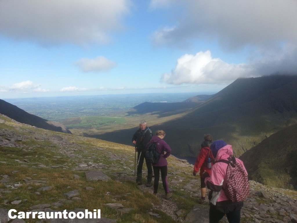 Hillwalkers on Carrauntoohil,  County Kerry, Ireland