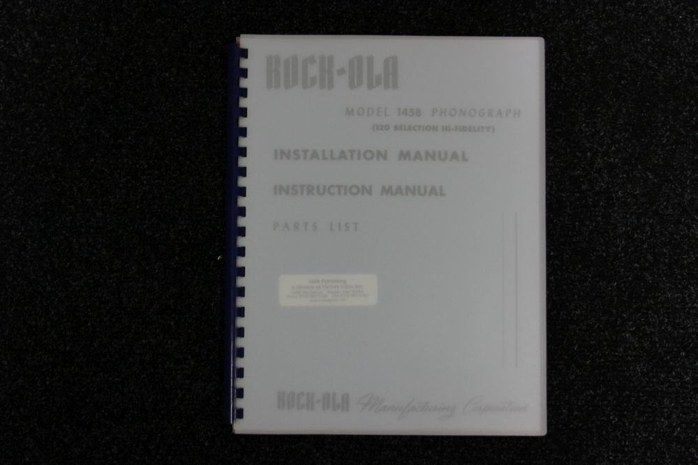 Rock-Ola Installation/Instruction manual Parts List - Model 1458