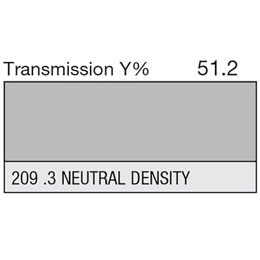 Lee 209 .3 Neutral Density Roll