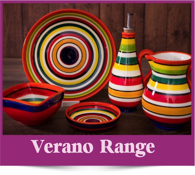 The Verano range of Spanish Ceramics from Brambles Deli