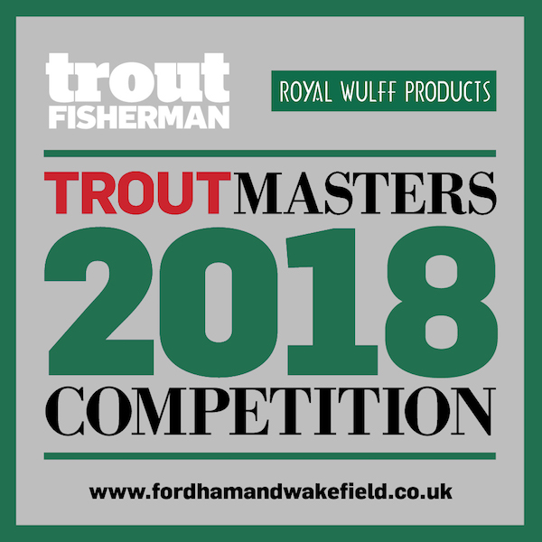 Logo for Trout Fisherman Magazine linked with Royal Wulff Products sponsoring the Troutmasters 2018 Competition