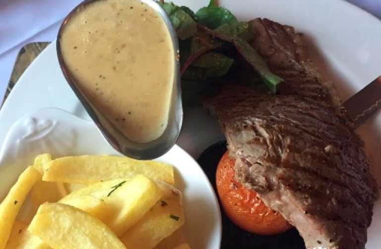 Galloway steak at The Auld Alliance Restaurant, Kirkcudbright