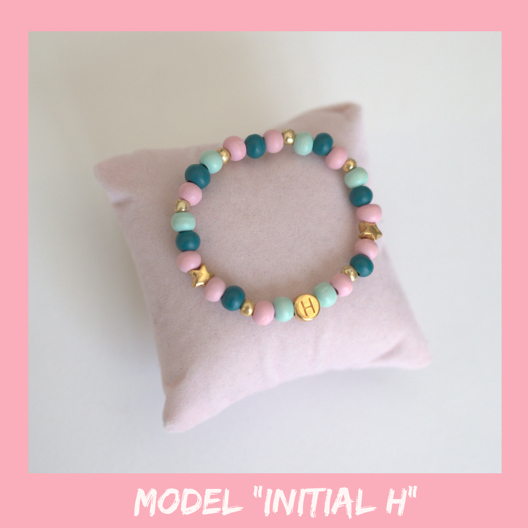 "Girls Intitial Bracelet ""H"""