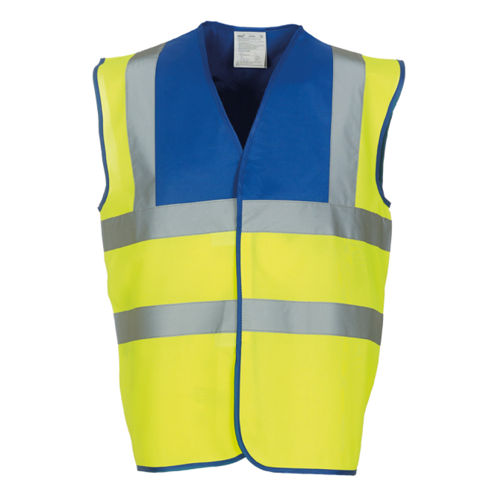 Royal Yoke & Yellow Hi Vis Safety Vests