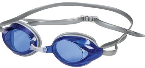 Hilco Zenith Adult Narrow Fit swim goggles Silver