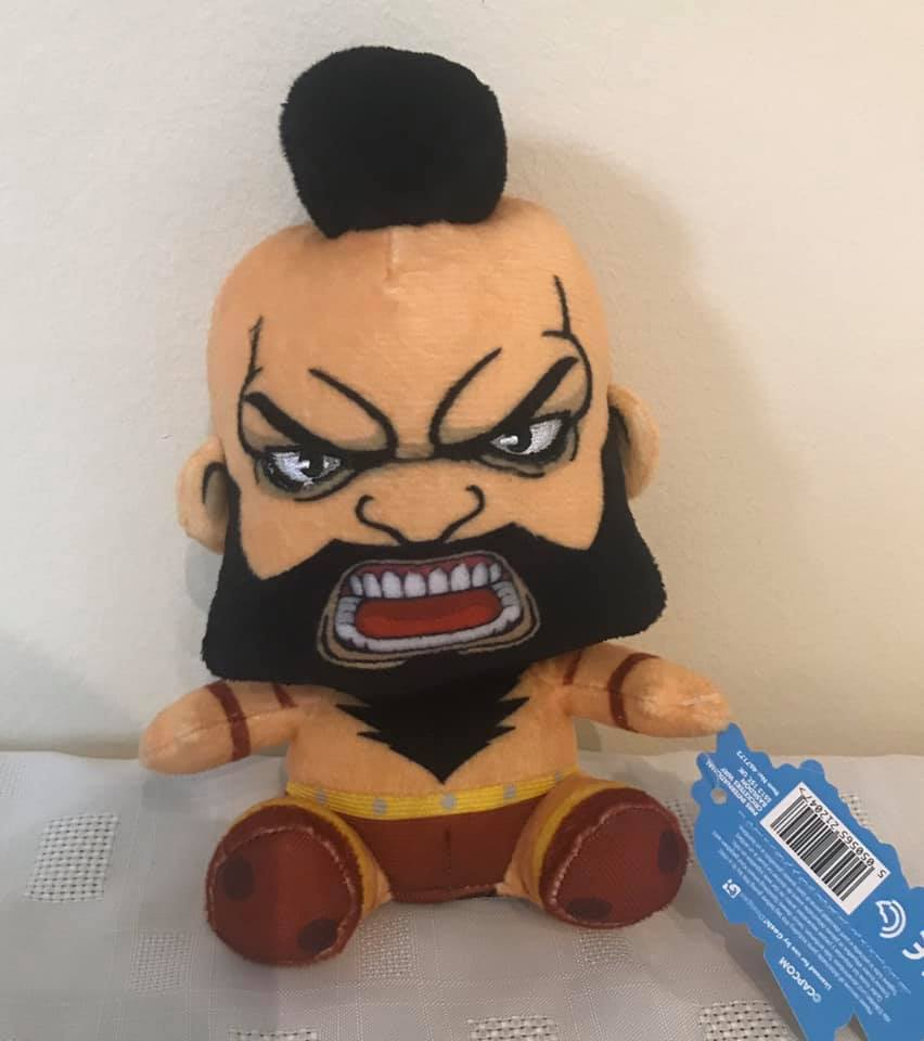 "Street Fighter Offical 6"" sitting Zangief Plush"