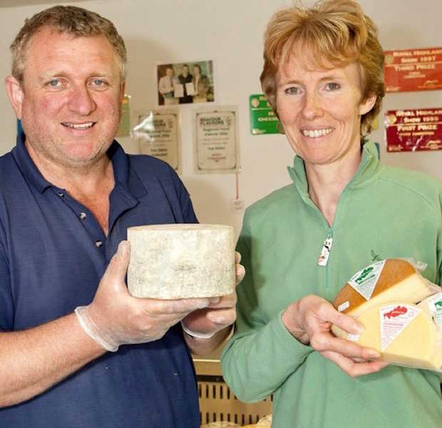 Alan and Helen Brown of Galloway Farmhouse Cheese