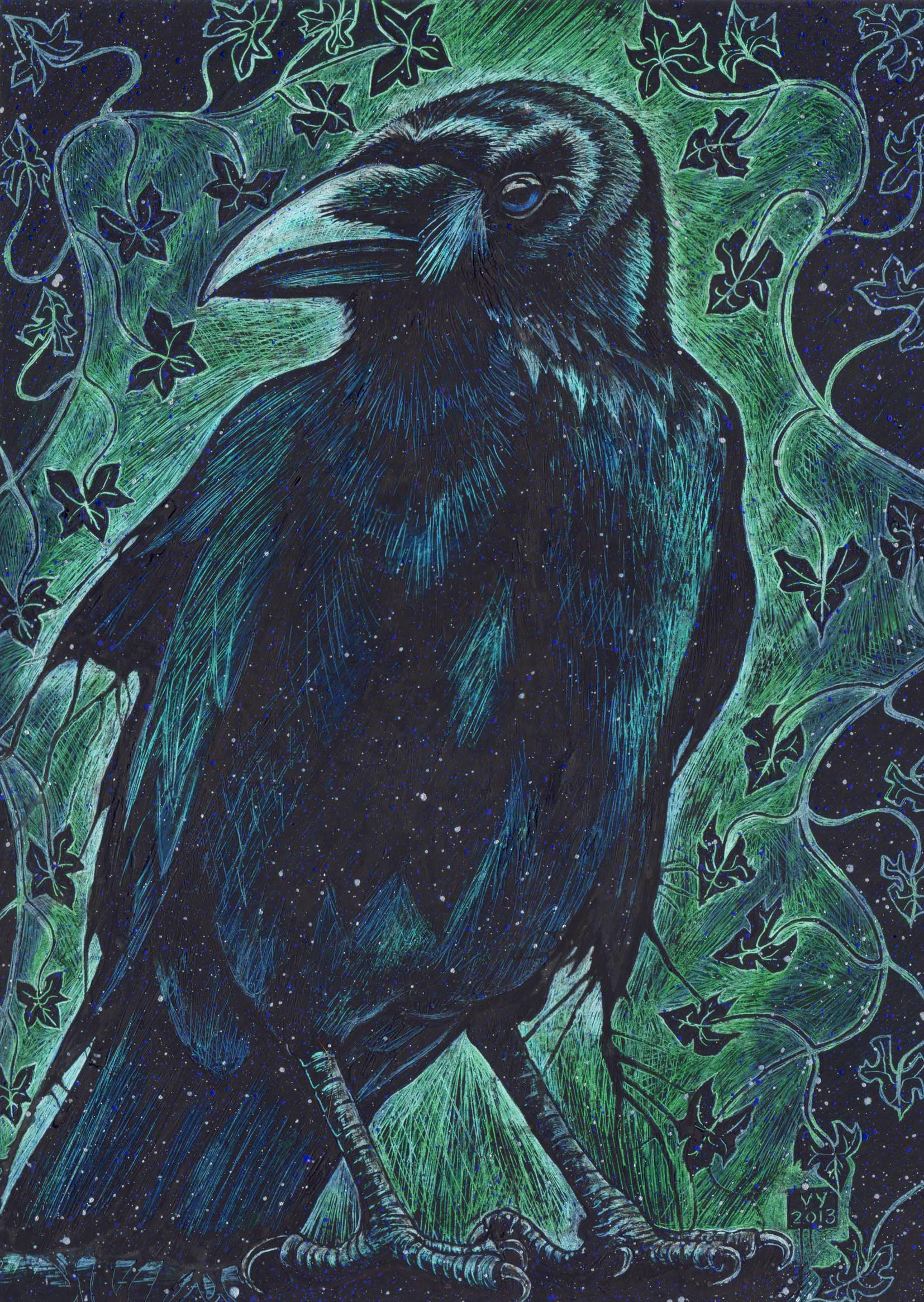 'Crow and Ivy' card
