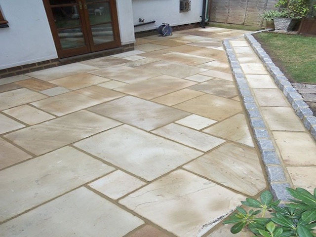 Natural stone patios Sunningdale
