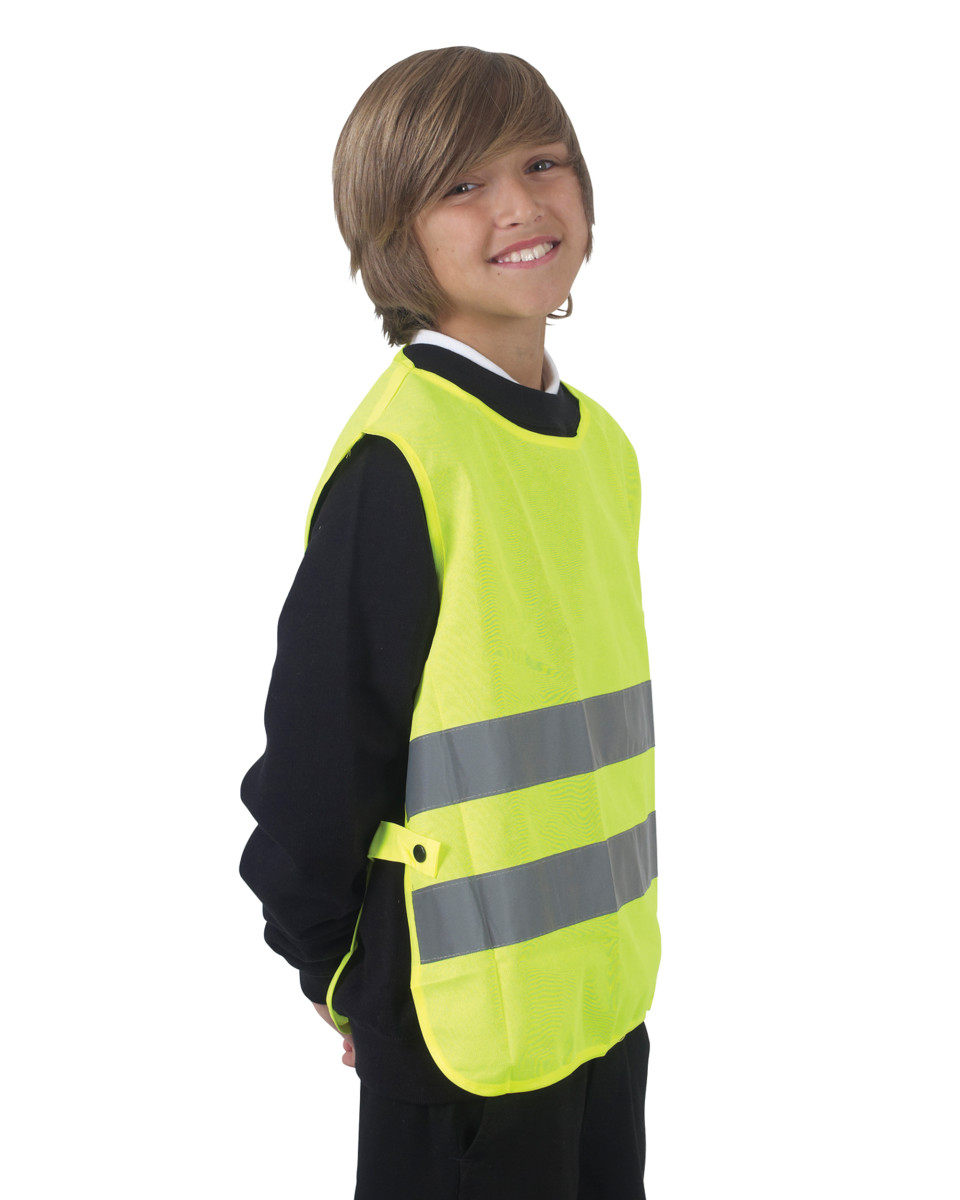Yellow Child's Hi Vis Reflective Tabards. 2 x 50mm strips