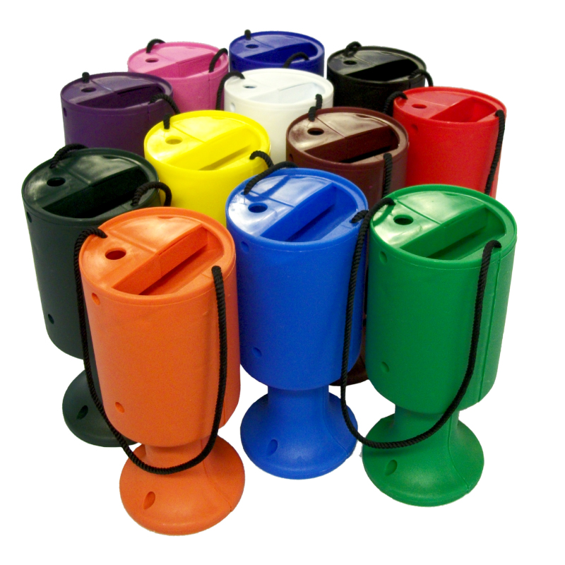 Plastic Charity Donation Hand Boxes - Range of Colours