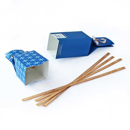 6 Reusable Eco Crackers - 'Midnight Blue' design - with FREE tags