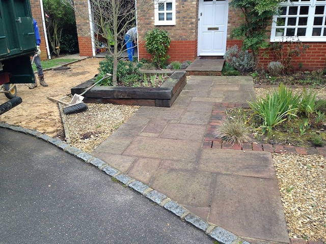 Old driveway in Sunbury-on-Thames