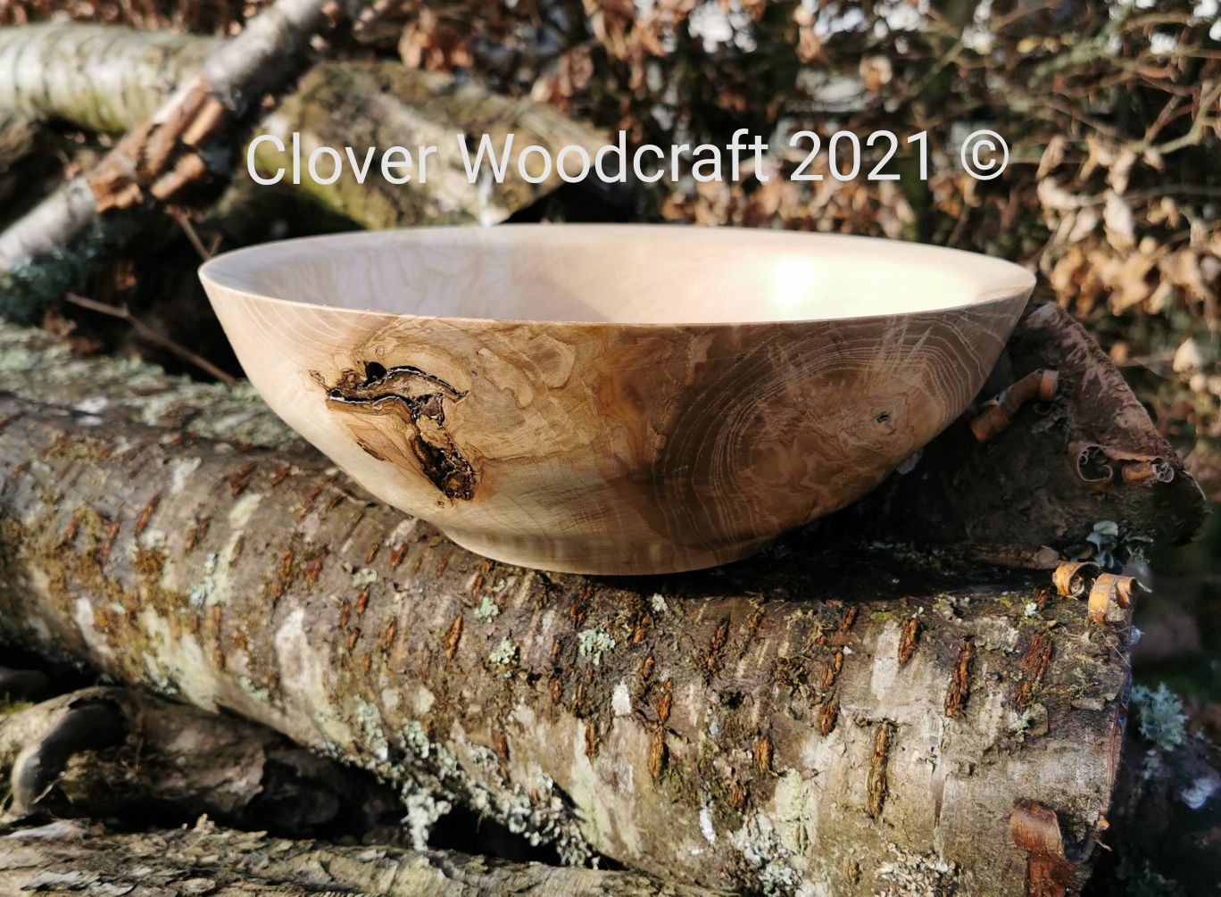 Irish Olive Ash Wood Turned Bowl Featuring Natural Voids