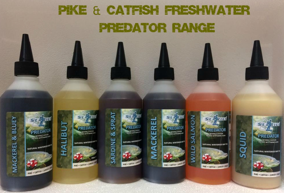 Predator , Pike & Catfish Winterised Natural Freshwater Bait oil.