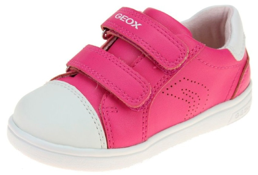 Girls pink and white Geox trainers