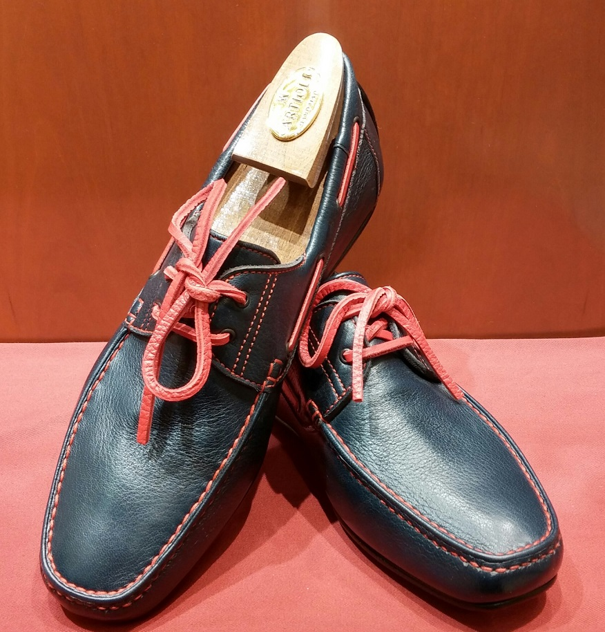 Driving Shoe Model 551 Navy & Red