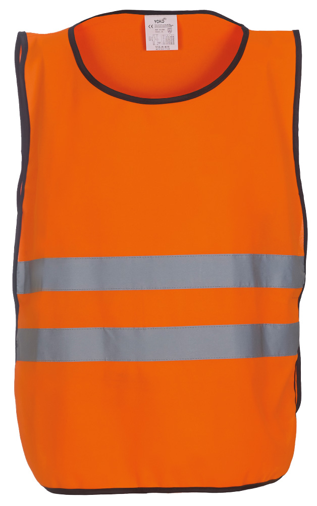 KO-HVJ269 Adult's Polyester Hi Vis Tabard  With Reflective Tapes, Orange.