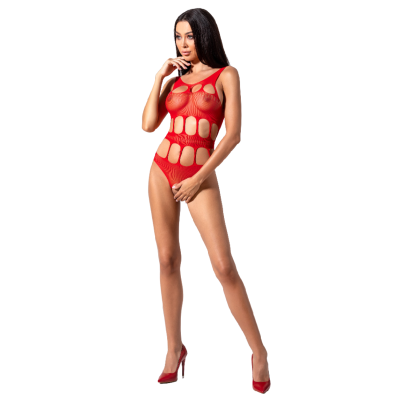 PASSION WOMAN BS083 TEDDY CUERPO DE RED ROJO ONE SIZE