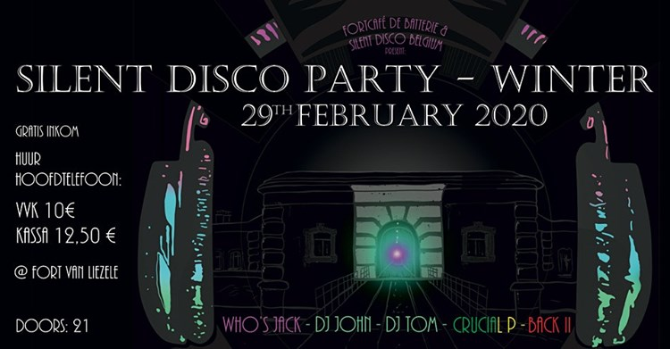 29/02/2020 - Silent Disco Party : winter edition