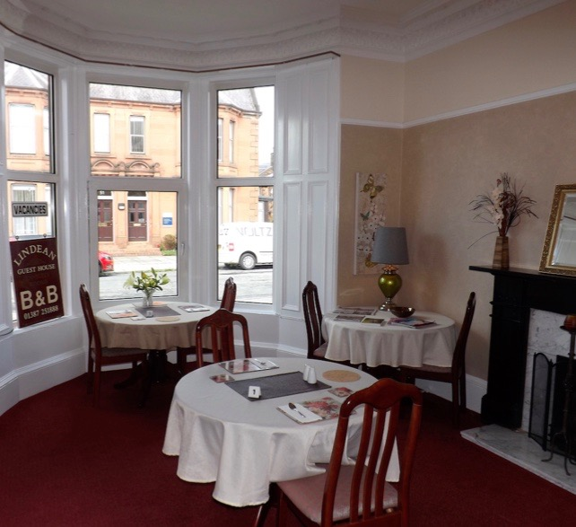 The Breakfast Room at Lindean Guest House Dumfries Scotland