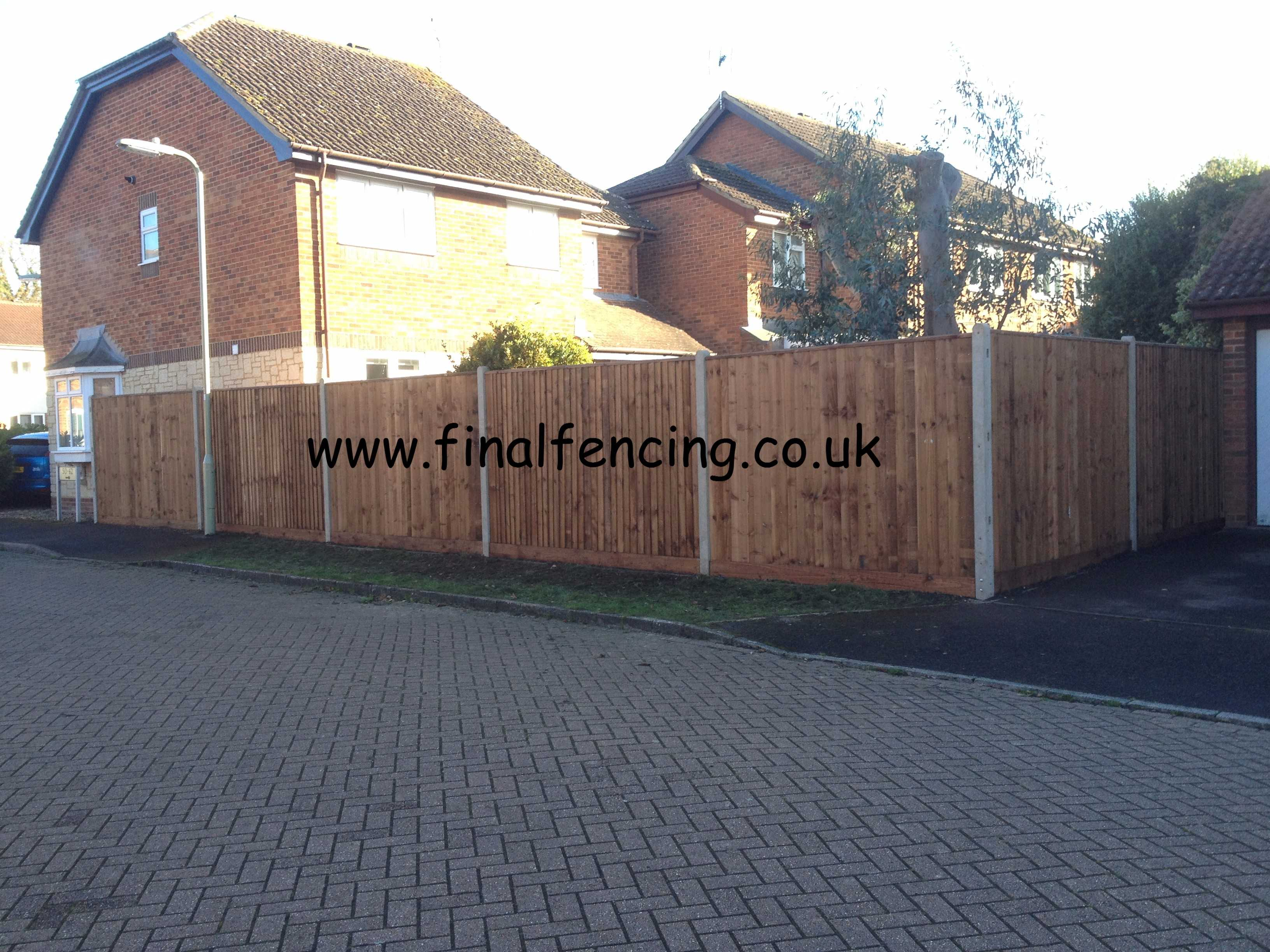 1.95M High Closeboard Fencing Concrete Posts  Capped Church Crookham