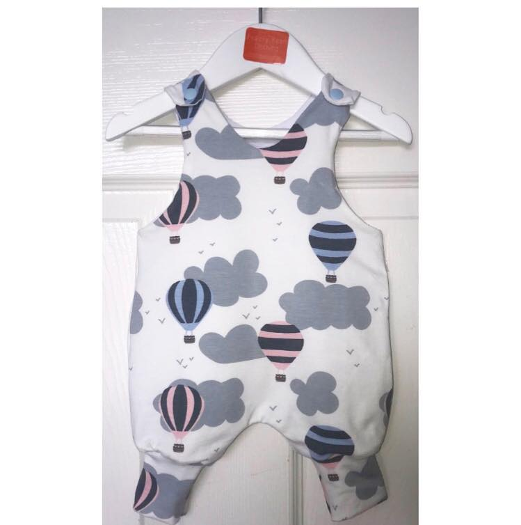 Grey Hot Air Balloon Romper