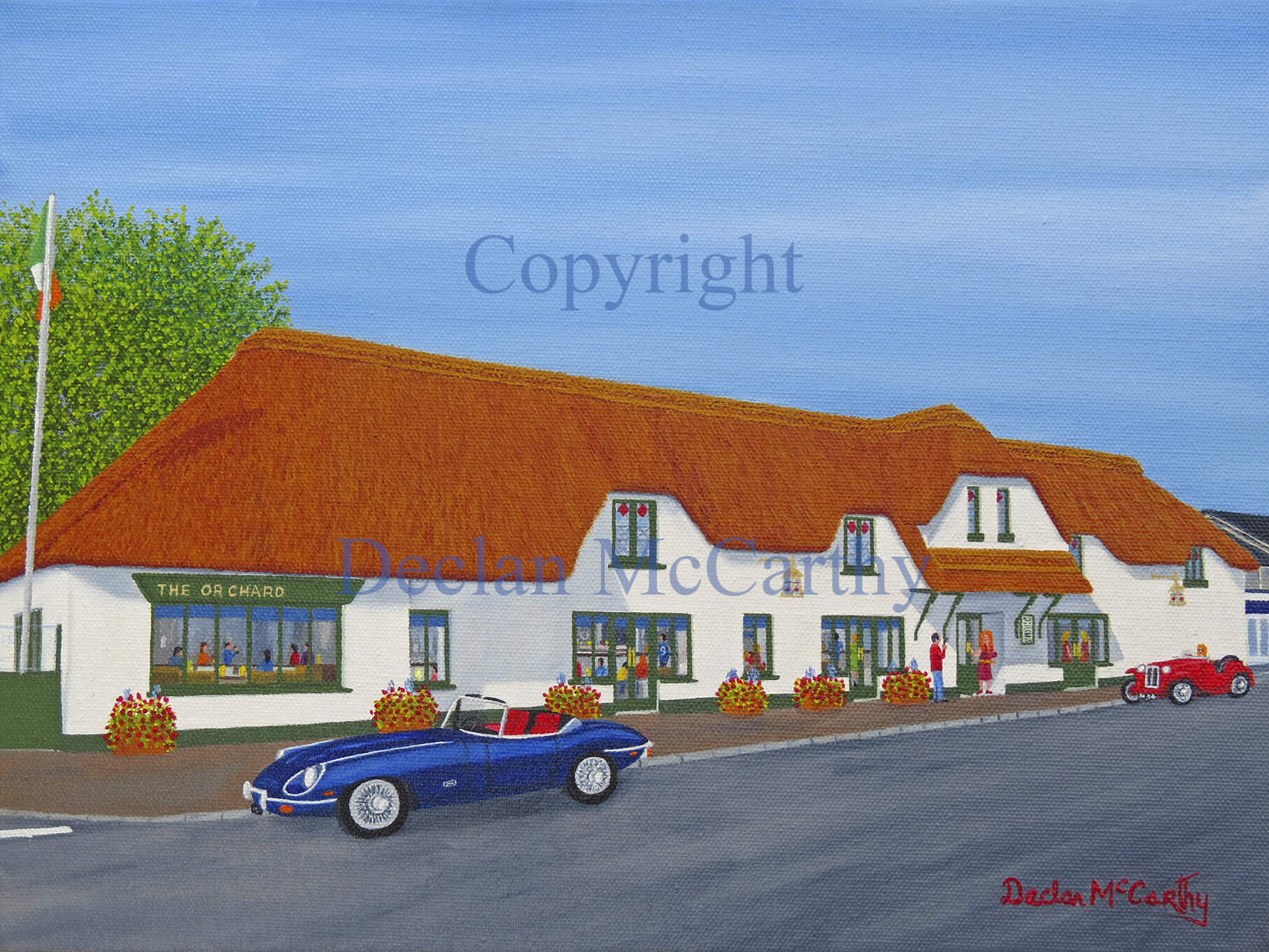 Thatched Pub in Stillorgan, Dublin.Oils On Canvas.16x12inch.Hanging Soon In The Stillorgan Orchard