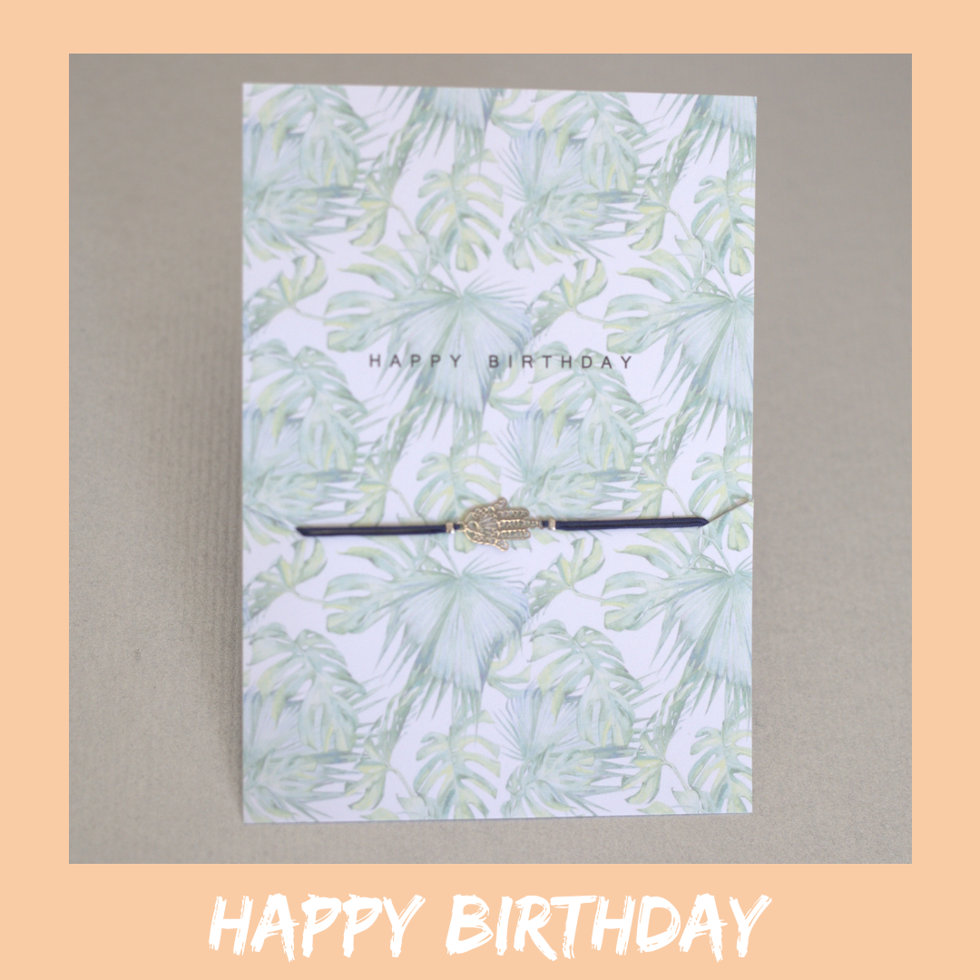 Bracelet Card - Happy Birthday