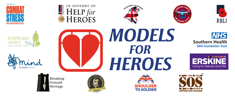 © Models for Heroes 2017-18. Not for Profit Company 10855739 / HMRC recognised charity EW71468    1 Harrier Road, Newbury, Berkshire. RG20 4AB. United Kingdom.