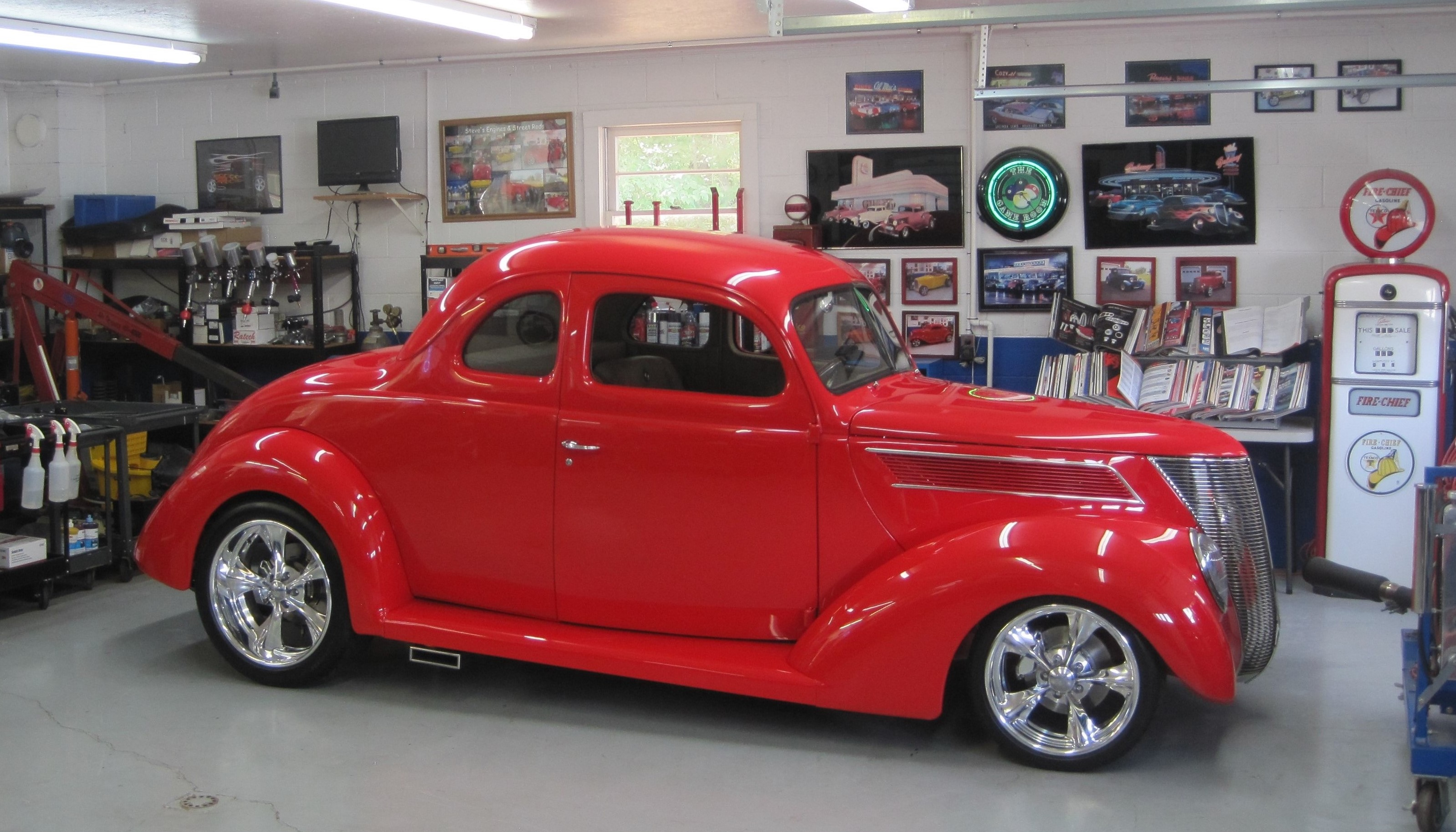 37 Steel Ford Five Window Coupe