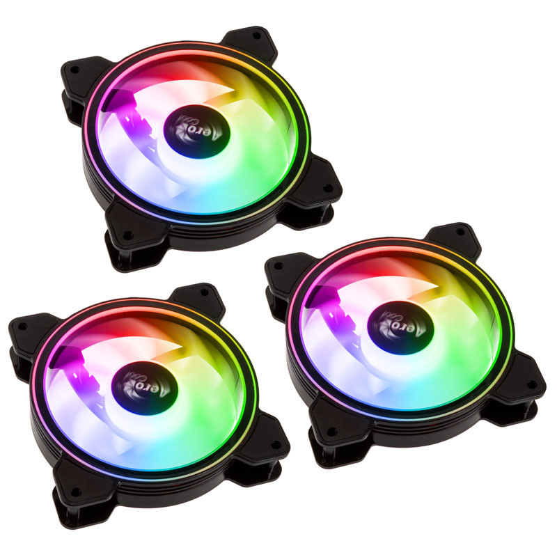 SATURN 12F ARGB PRO LED FAN INCLUDES CONTROLLER TRIPLE PACK - 120MM